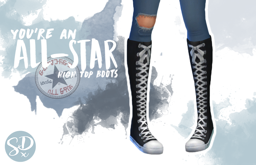 Youre and All-Star high top shoes by sondescent