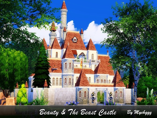 Beauty & The Beast Castle by MychQQQ