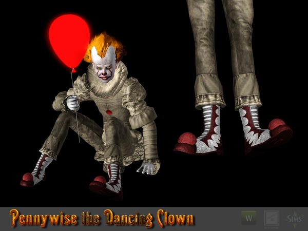 Pennywise the Dancing Clown Shoes by Shushilda