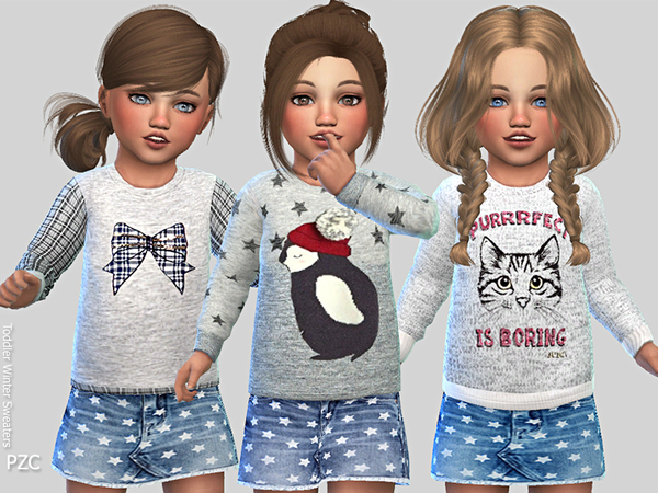Toddler Winter Sweaters by Pinkzombiecupcakes