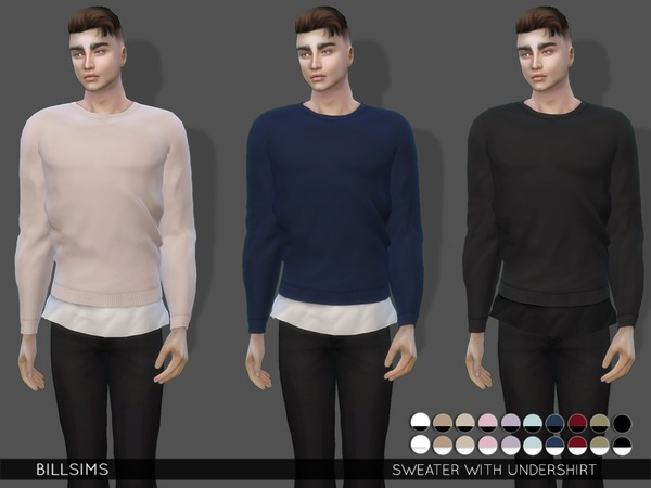 Sweater With Undershirt by Bill Sims