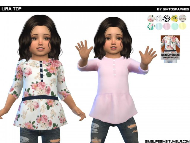 Lira Top - Toddler by SimsLifeSims