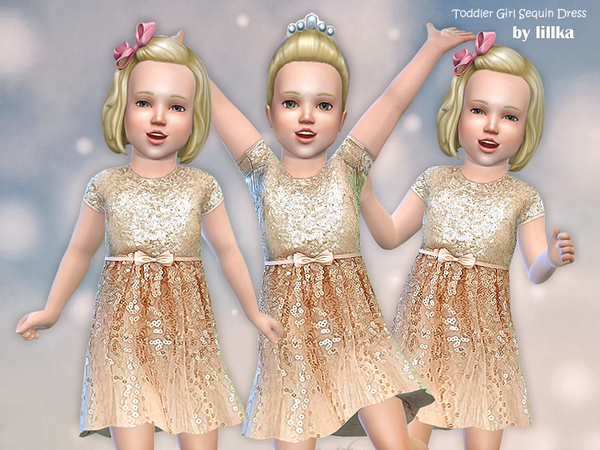 Toddler Girl Sequin Dress by lillka