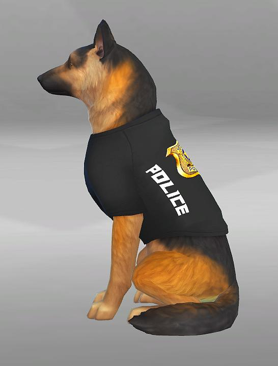Police Clothes for brave Dogs by SimVicio