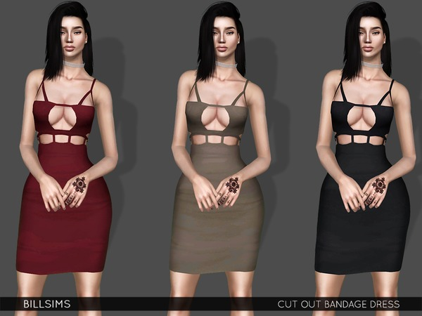 Cut Out Bandage Dress by Bill Sims