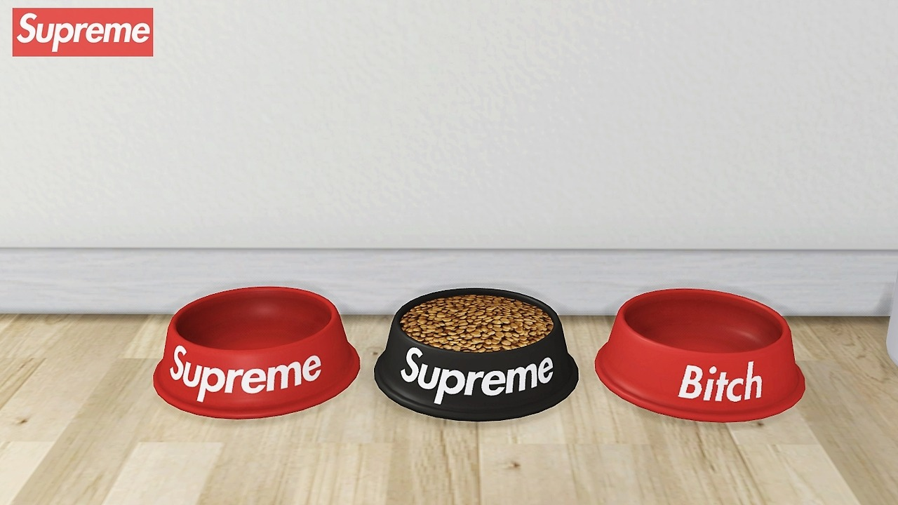 Supreme Dog Bowl ( Functional ) by MXIMS