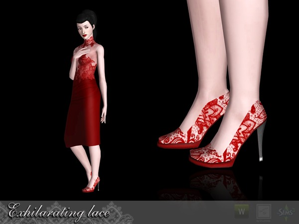 Exhilarating lace Shoes by Shushilda