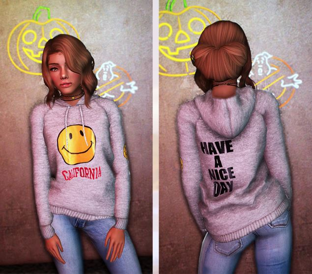 Smiley Face Hoodie by DizzieSims