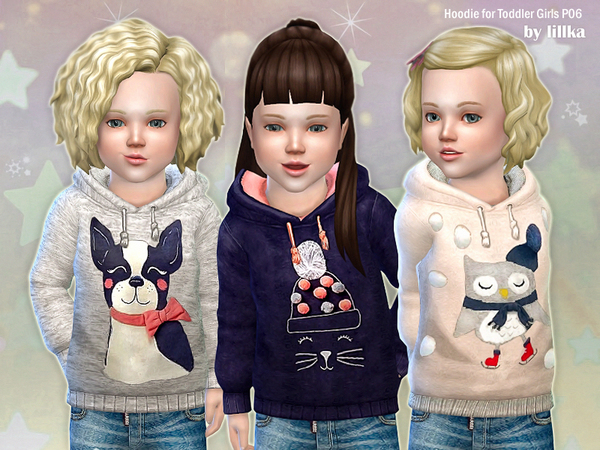 Hoodie for Toddler Girls P06 by lillka