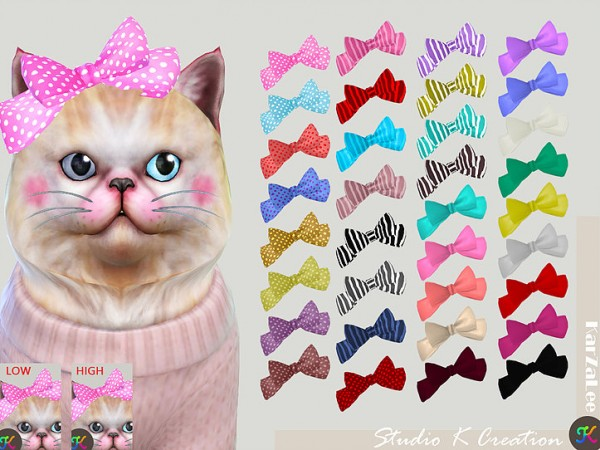 Cat head bow by Studio K Creation