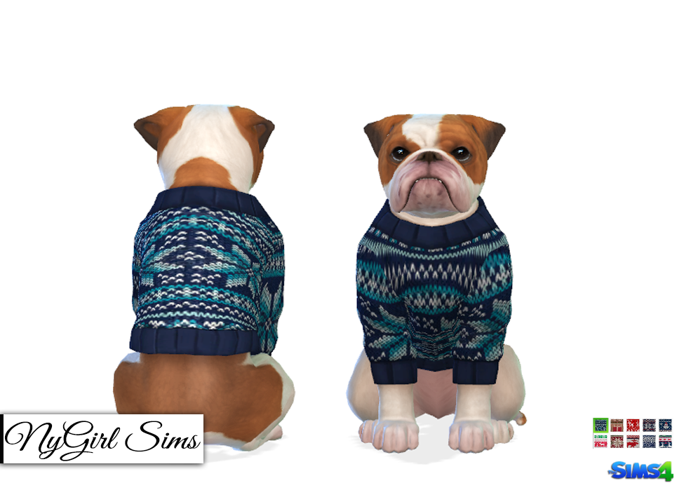 Dogs Knitted Holiday Sweater by NY Girl