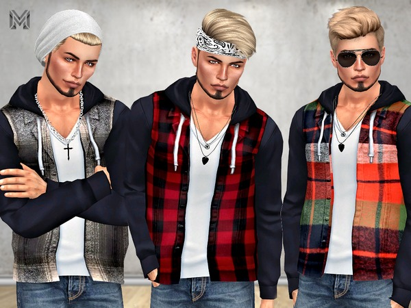 MP Male Casual Plaid Jacket by MartyP