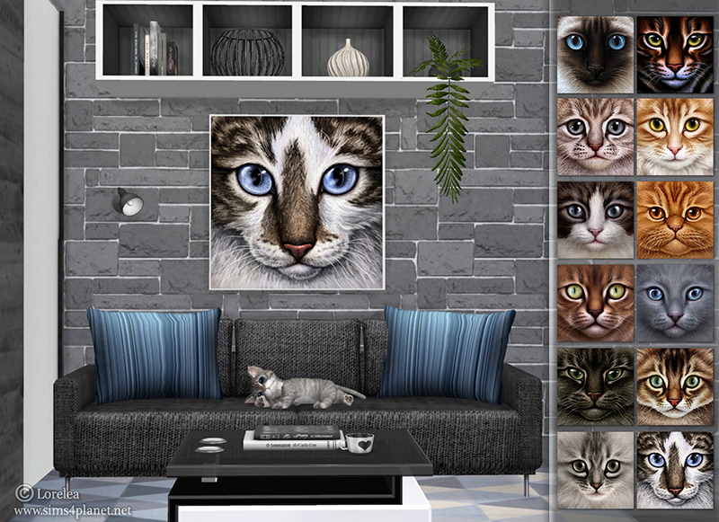 Cats Paintings by lorelea