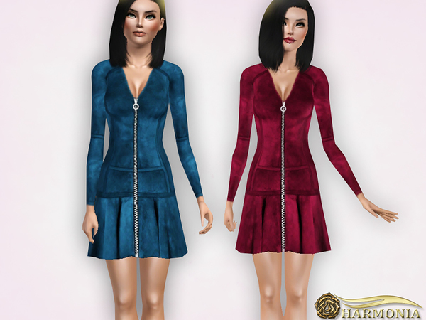 A-line Silhouette Suede Mini Dress by Harmonia