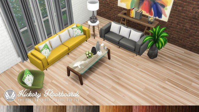 Hickory Floorboards by Peacemaker ic