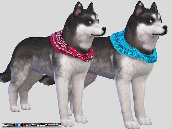 Large Dog Bandanas by Pinkzombiecupcakes