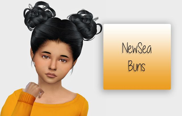 NewSea Buns Hair Kids Version by Simiracle
