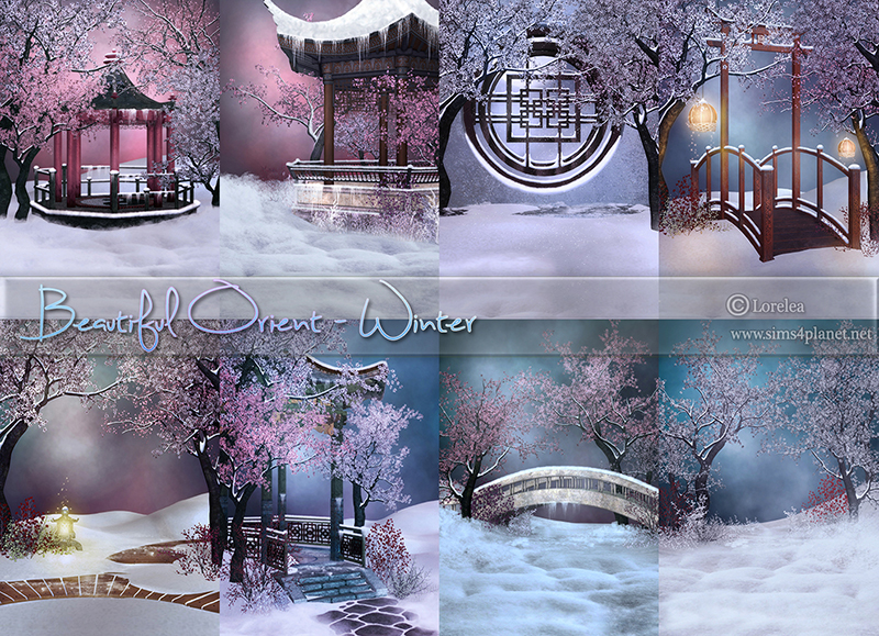Beautiful Orient - Winter Backgrounds by lorelea