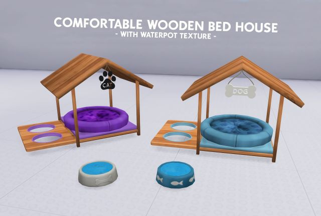 FUNCTIONAL COMFORTABLE WOODEN BED HOUSE - WITH WATERPOT TEXTURE by Coupurelectrique