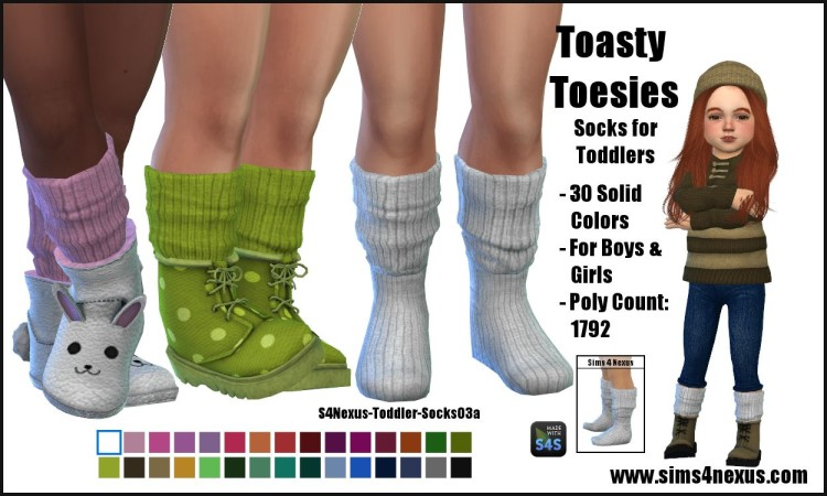 Toasty Toesies - Socks for Toddlers by sims4nexus