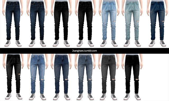 Slim fit tapered jeans by 2sanghaec