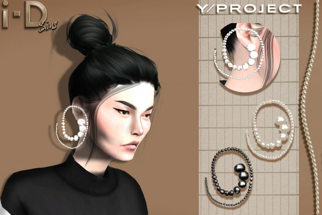 Y/PROJECT PEARL SPIRAL EARRINGS by i-dsims