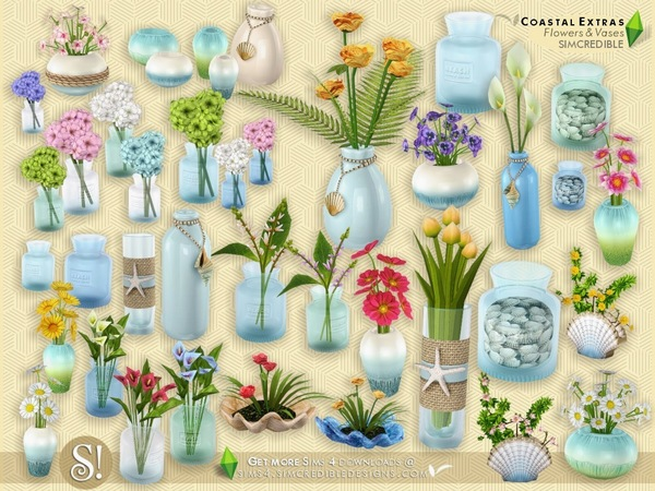 Coastal Extras - Flowers and Vases by SIMcredible