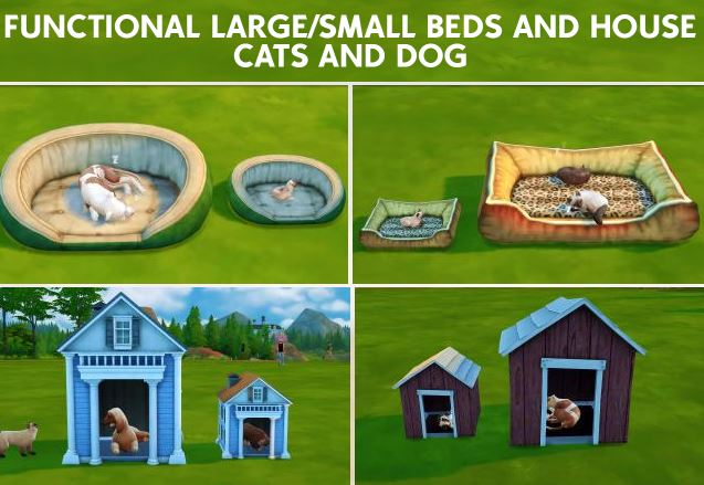 FUNCTIONAL LARGE/SMALL BEDS AND HOUSE - CATS AND DOG by Coupurelectrique