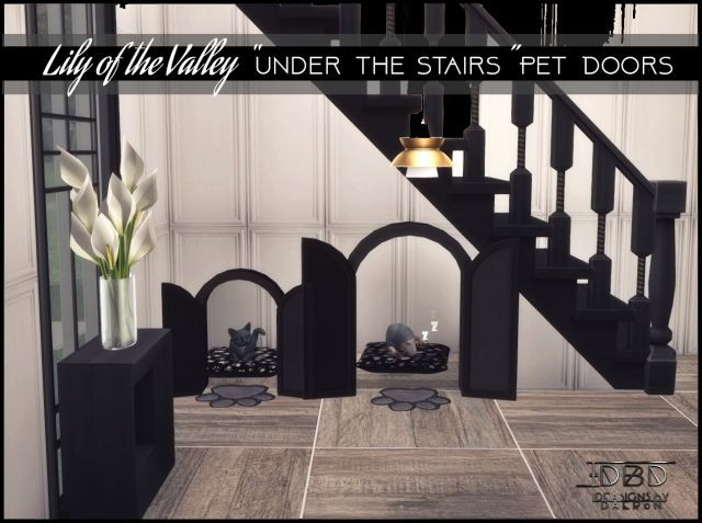 "3T4 Lily of the Valley ""Under the Stairs"" Pet Doors by Daer0n"