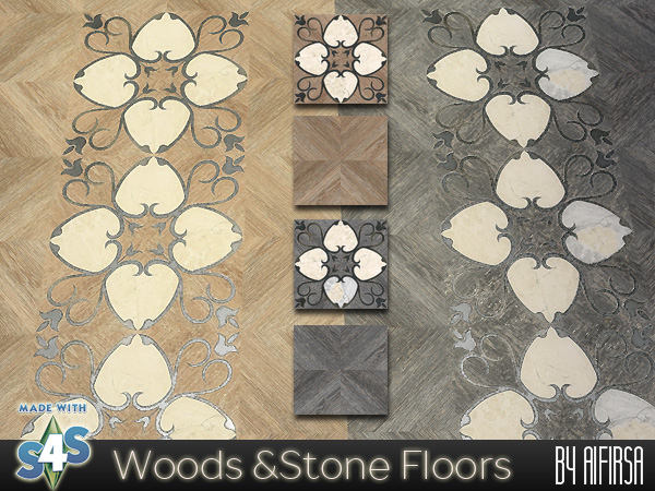 Wood and Stone floors by Aifirsa Sims