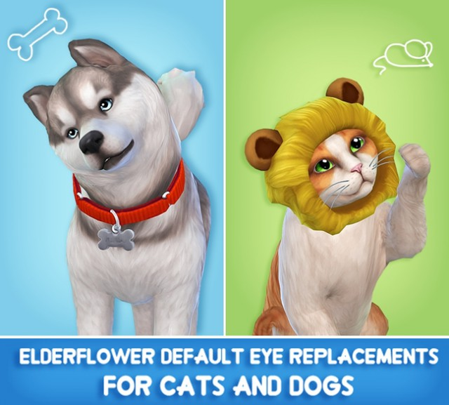 Default Eye Replacements For Cats and Dogs by fishbonesims