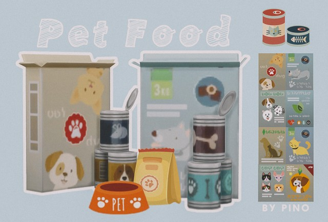Decor Pet food by pinofurude