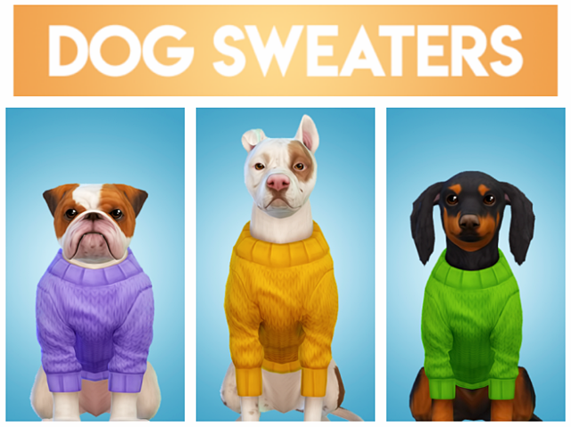 Solid colored dog sweaters by dogsill