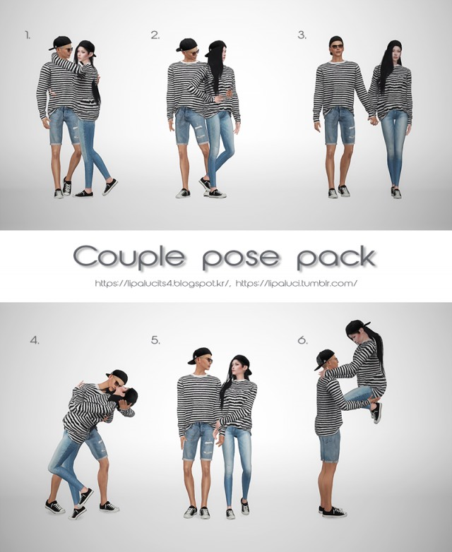 Couple pose pack by lipaluci