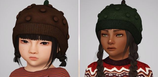 Bobble hat for kids and toddlers by sketchbookpixels