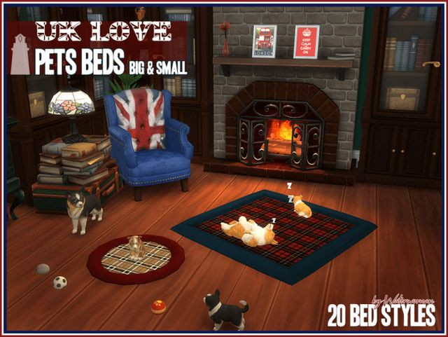 UK LOVE  Pets Beds by Waterwoman