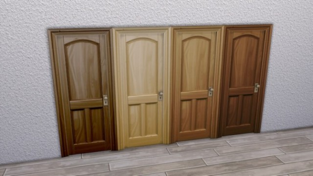 Wooden Three-Panel Door by LaLunaRossa