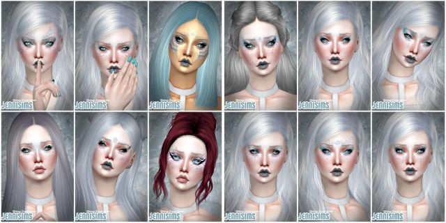 Makeup EyeShadow Frozen Queen (13 Swatches ) by JenniSims
