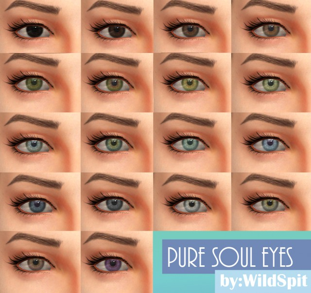 DEFAULT AND NON-DEFAULT PURE SOUL EYES by WildSpit