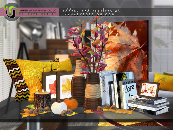 Amber Living Room Decor by NynaeveDesign