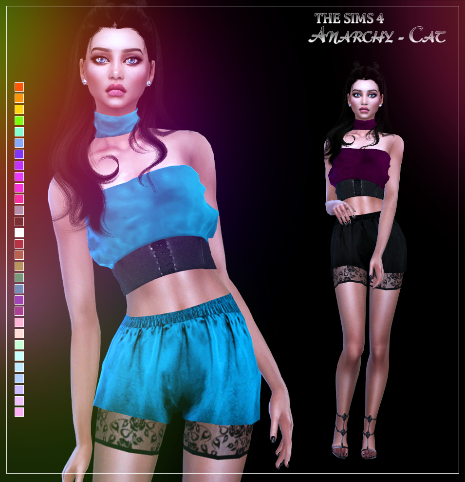 MFS Havana Top & Shorts by Anarchy-Cat