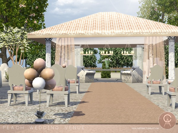 Peach Wedding Venue by Pralinesims