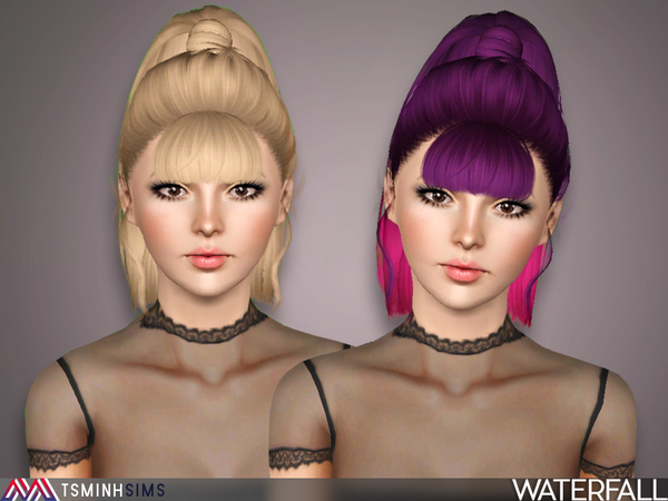 Waterfall ( Hair 47 ) by TsminhSims