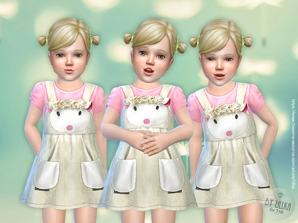 Lamb Dress for Toddler by lillka