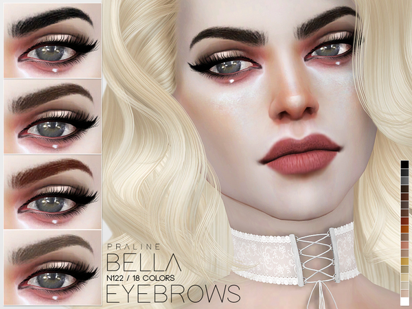 Bella Eyebrows N122 by Pralinesims