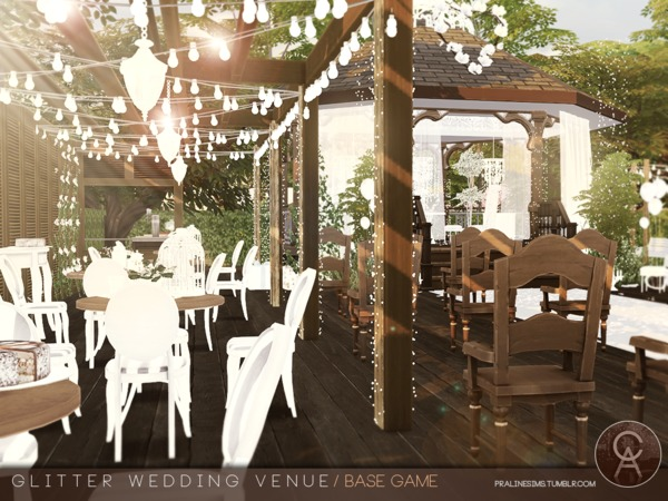 Glitter Wedding Venue by Pralinesims