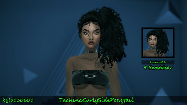 Tachina Curly Side Ponytail hair conversion by Kylo130601