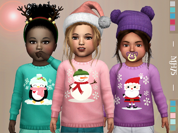 S4 Winter Kiss Sweaters [Toddler M/F] by Margeh-75