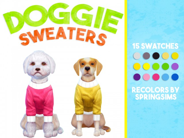 Doggie Sweaters Recolored by SpringSims