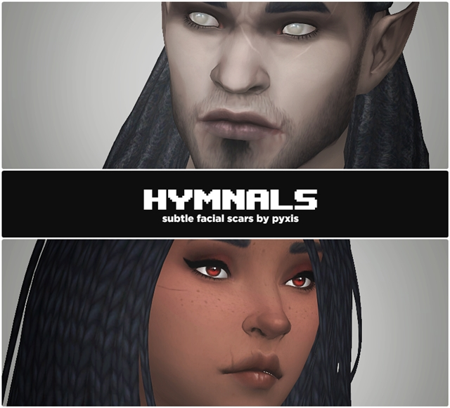 HYMNALS - FACIAL SCARS by Pyxiidis